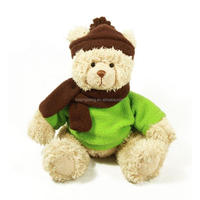 high quality kids toy cheap soft plush teddy bear toy with clothes and EN71 approval