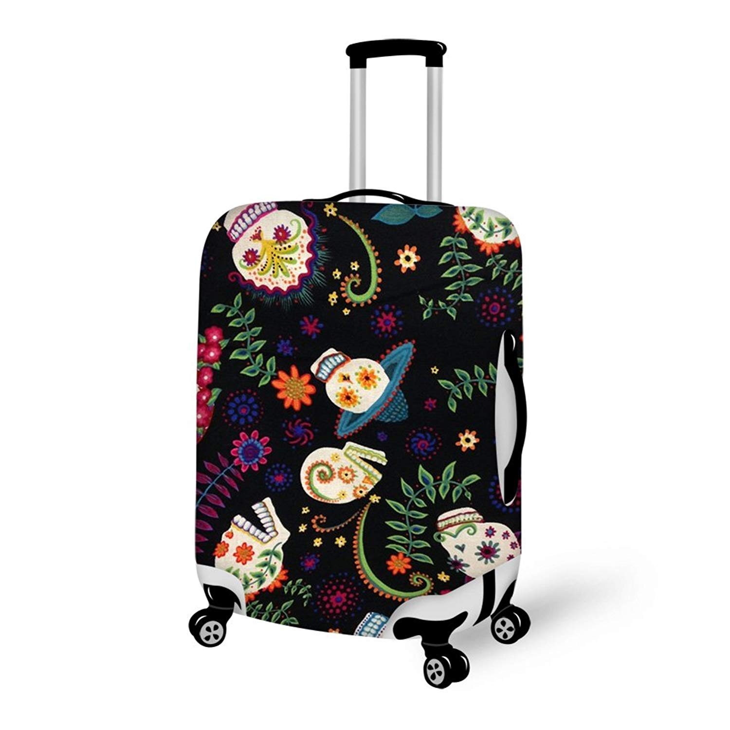 INTERESTPRINT Travel Luggage Protector Suitcase Covers Fit 18-28 Inch Luggage Avocado Green