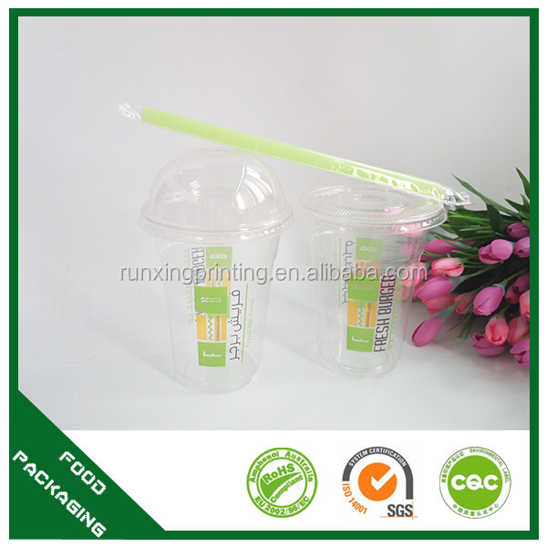 thicker big diameter plastic straw for drink