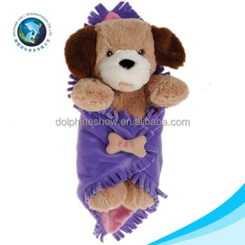 Newborn Cute Dog Toy Animal Head Plush Soft Stuffed Handmade Baby