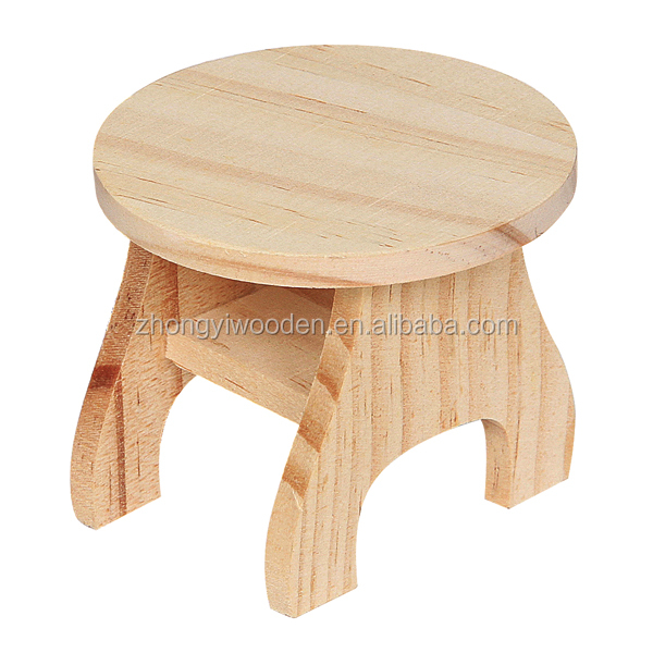 Cute design eco-friendly solid small customized FSC wooden stools