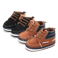 High quality anti-slip first walking toddler baby boy shoes