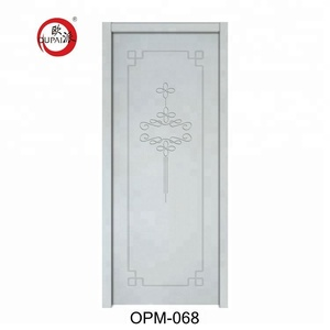 New Product Luck Bring Chinese Knot Pattern Carved Bedroom Plain Color Main Door Models