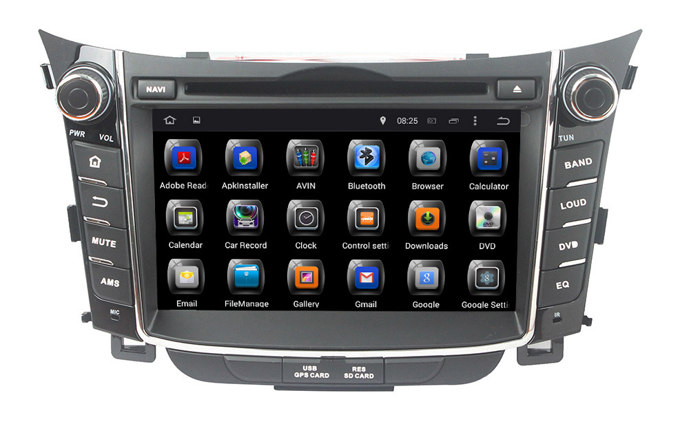 7' 2 din 4-core 16GB Flash android 4.4 touch screen car multimedia dvd player with gps ,3g wifi for Hyundai I30 2011-2013