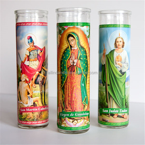 Mexico 7 Days Religious church candle / memorial jar candle