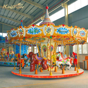 Carousel kiddie rides in amusement park for sale