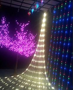 New GBB 110V 672LED Mesh Net String Party Lights For Christmas & Halloween Wedding decoration. 8 different modes,With Tail Plug (Warm White 6m x 4m/19.6ft x 13.1ft) Xmas Sale ! Shop now for best price of season!!! ...