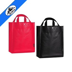 promotional event non-woven shopping bag Grocery Bag Recycled Reinforced Handles Storage Shopping Tote Bag with Snap Button