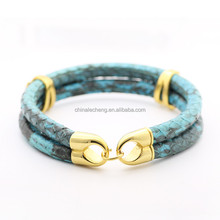 2016 Fashion Jewelry Luxury Diamond Artificial Python Skin Bracelet Artificial Python Leather Bracelet,Snake Skin Bracelet