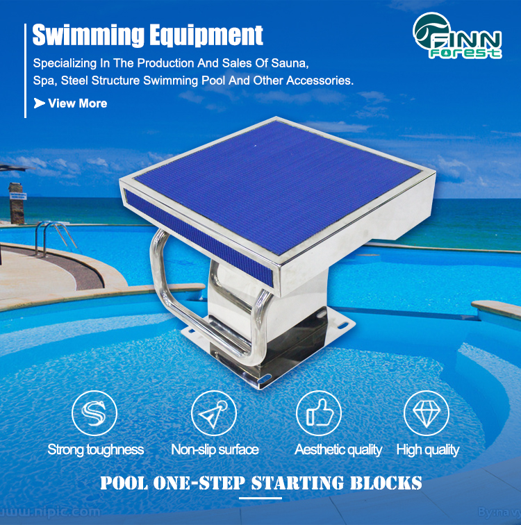 Competition Pool Race Jumping Board ABS Stainless Steel Standard 1 Level Swimming Pool Starting Blocks