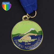 3D terne alloy casting medal with gold plated