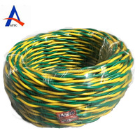 green and yellow electrical wire
