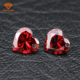 Cheap price CZ loose gemstone with High technology machine cut heart shape