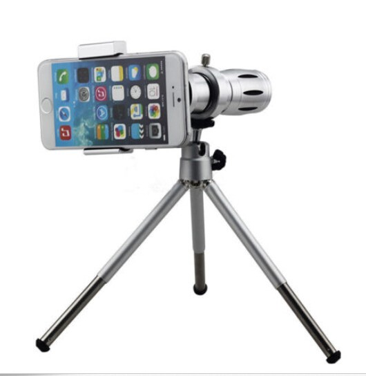 Universal Mobile Phone Lens 12 x Zoom Optical Telescope Tripod Holder Camera lens For iPhone for Samsung