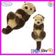 C207 Luxury Fur Sea Otter Plush Toys Animal Stuffed Brown Cutting of Soft Toys