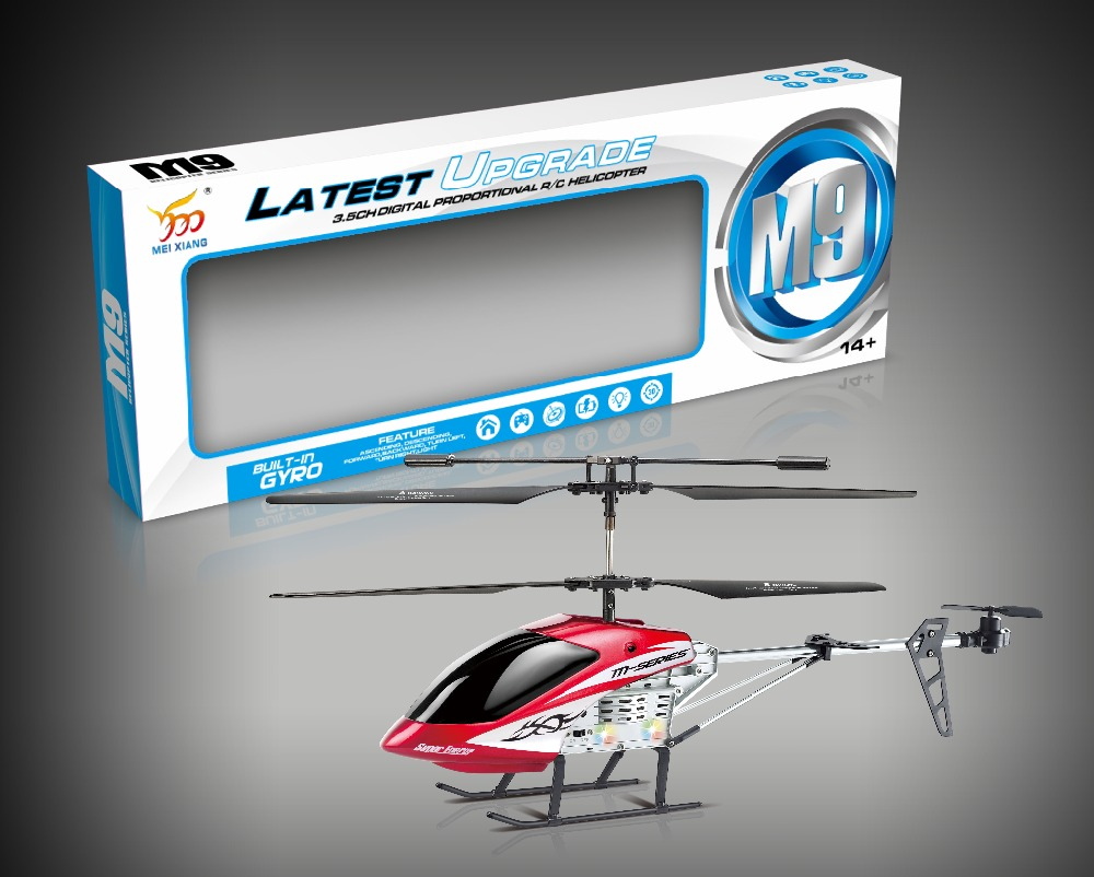 Remote-controlled helicopter toys with gyro and light rc aircraft helicopter