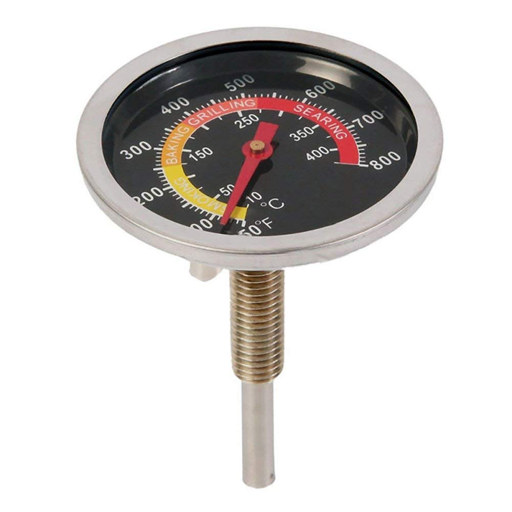 BBQ Stainless Steel Thermometer, 50-400℃ Barbecue Smoker Grill Stainless Steel Thermometer Outdoor BBQ Temperature Gauge(85mm)