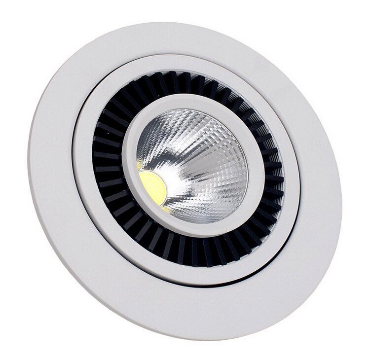 Free Shipping 360angle rotating  Dimmable 10W/15W warm white/white/ cold white COB Recessed led light  AC85-265V
