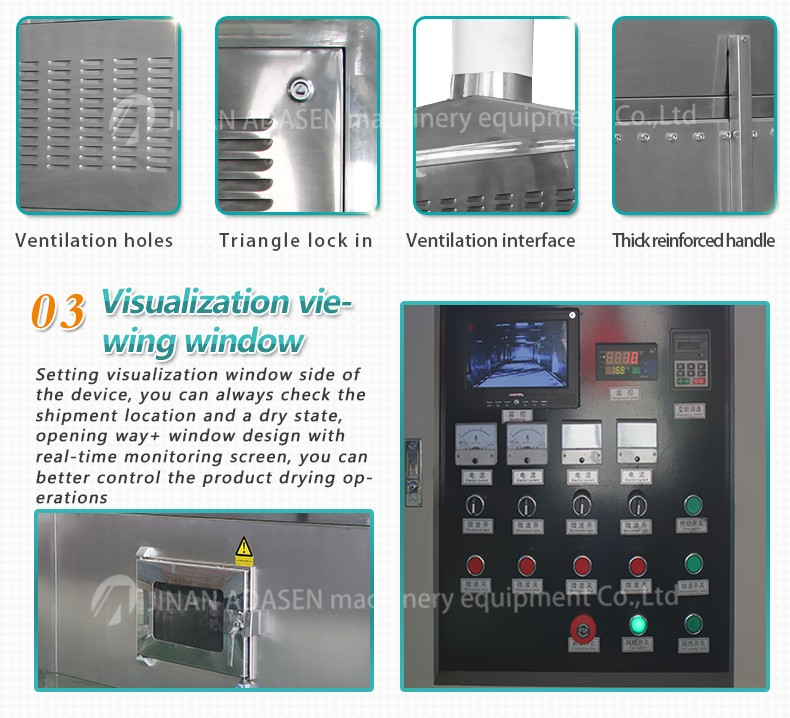 Microwave dryer and sterilization equipment