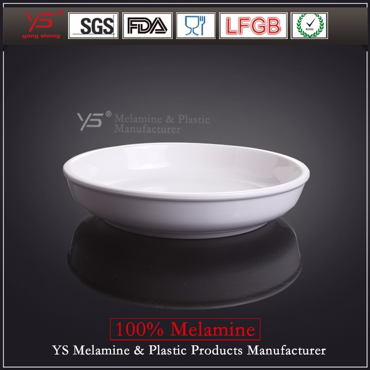 SGS certified high quality imitation porcelain concave with deep dish production lines dessert dishes for restaurants