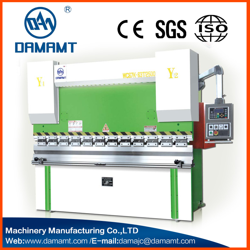 Estun e21 nc system 2 axis Electric Hydraulic Plate Bending Machine WC67Y-80T/3200 Press Brake