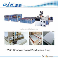 Su Zhou Plastic PVC Extrusion Window Board Profile Machines / Production Line Manufacturer