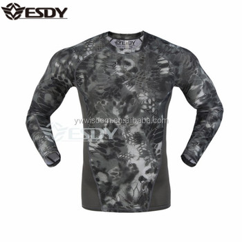 ESDY 3 Colors Long Sleeve Sweat Shirt Military Outdoor Camo Sport Shirt