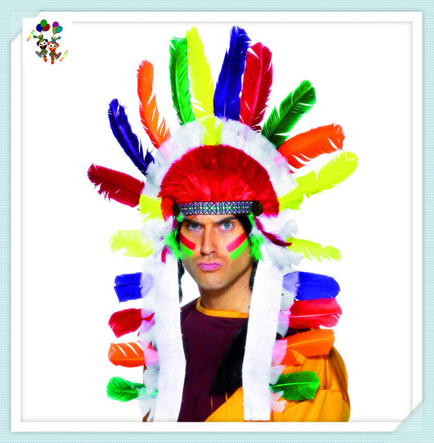 Carnival Party Indian Native American Feather Headdress HPC-2180