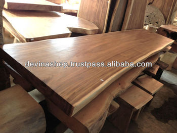 Acacia Wood Solid Slab Wood Dining Table 3 Meter Buy