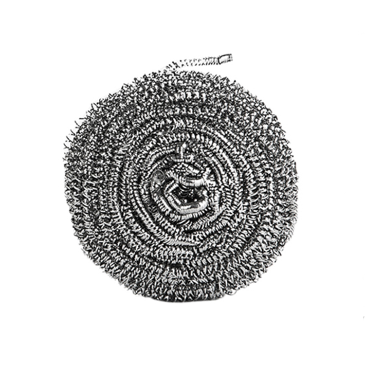 Customize packing household item stainless steel wire spiral pot pan metal dish cleaning scrubber