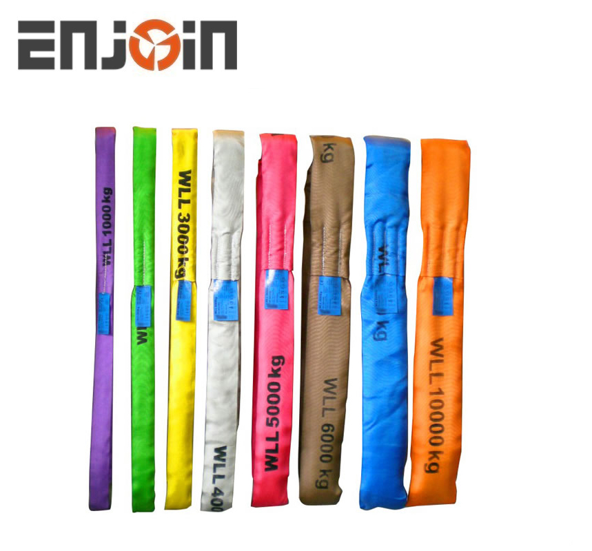 ENJOIN 2 inch 3T polyester webbing pipe lifting sling,round sling with label