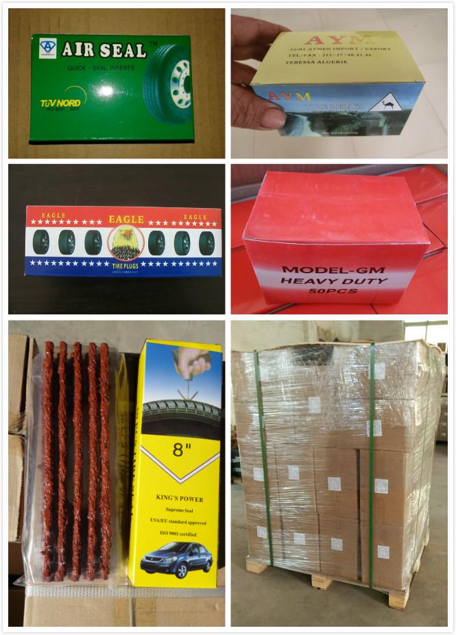 Kahverengi 6*100 Güvenlik Lastik Conta Lastik Tamir Dize Fişler