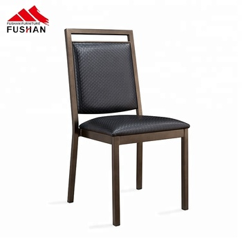 Modern durable simple design cafe aluminium pu dining chair black for chair dining room furniture made in china