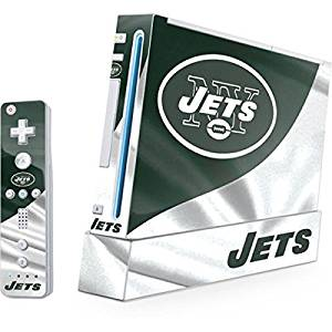 NFL New York Jets Wii (Includes 1 Controller) Skin - New York Jets Vinyl Decal Skin For Your Wii (Includes 1 Controller)