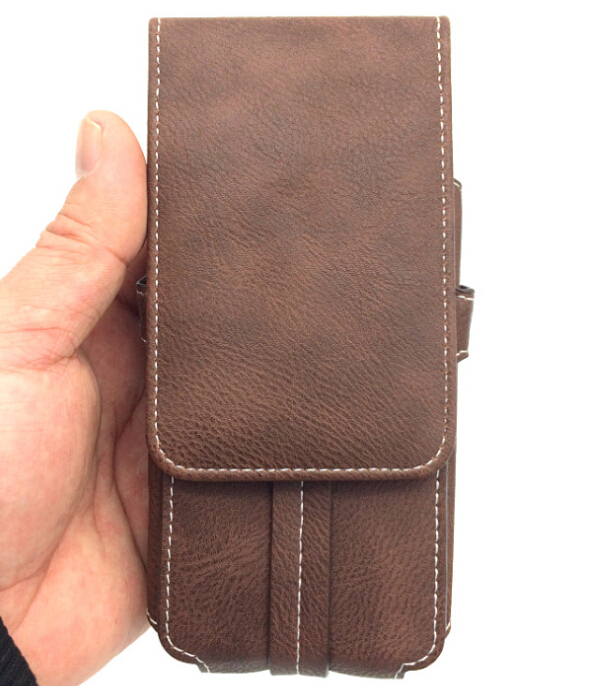 Hottest Universal Leather Pouch Belt Case with Clip Holster Cover Holder for mobile cell phones