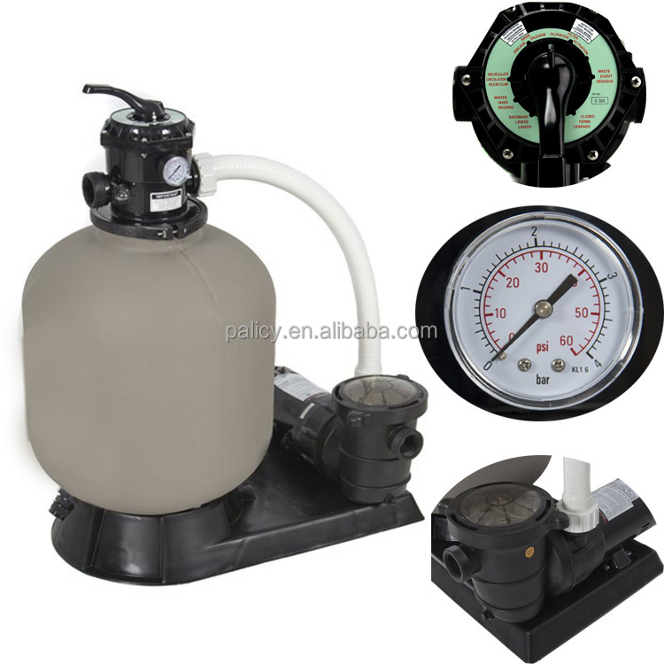 Swimming pool automatic large industrial water sand filter with pump