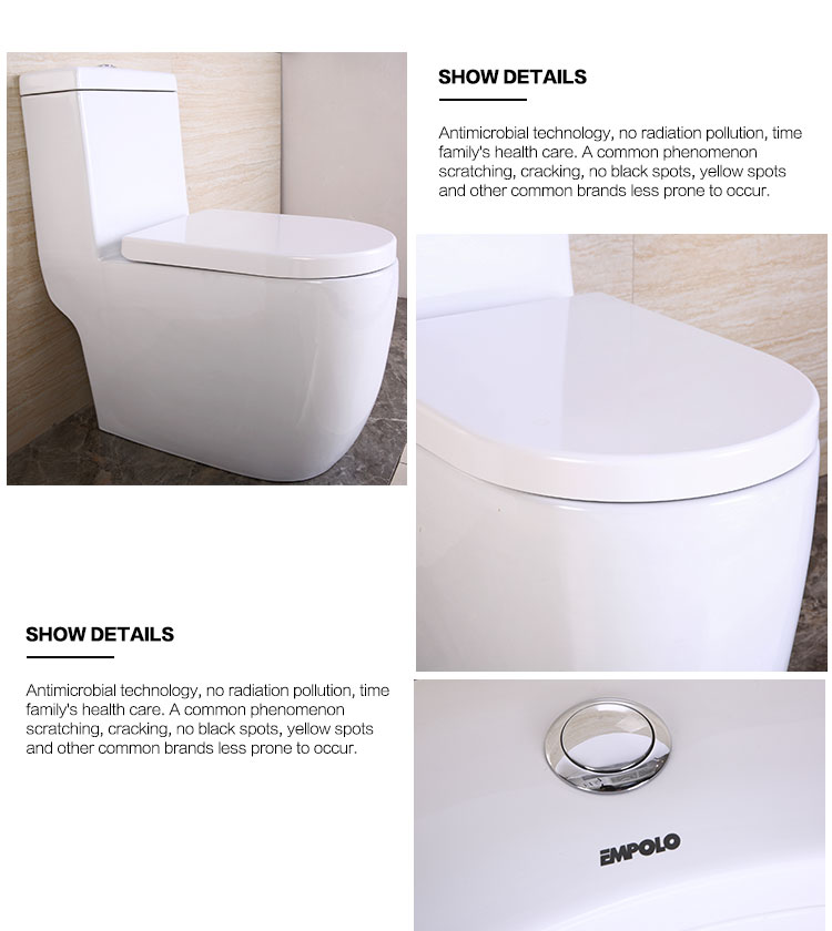 2017 New desgin saving water one-piece toilet for sale