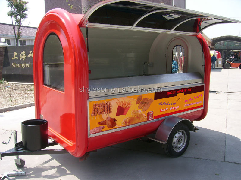 Ice Cream Vending Carts Fast Food Kiosk Catering Trailer