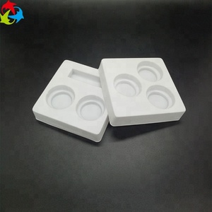 Custom Square PS Flocking Cosmetic Plastic Blister Tray