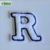 Custom wholesale cheap woven embroidered sew and iron on letter patches for clothing