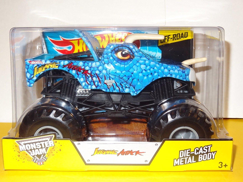 Buy Jurassic Attack Hot Wheels Monster Jam Diecast 1 24 Truck 2014 Blue Dinosaur Monster Truck Off Road In Cheap Price On Alibaba Com