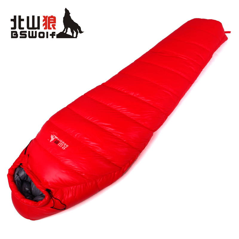 Kitayama wolf outdoor ultralight down sleeping bag spring Ma Mi-style thick warm autumn and winter camping adult sleeping bag Si