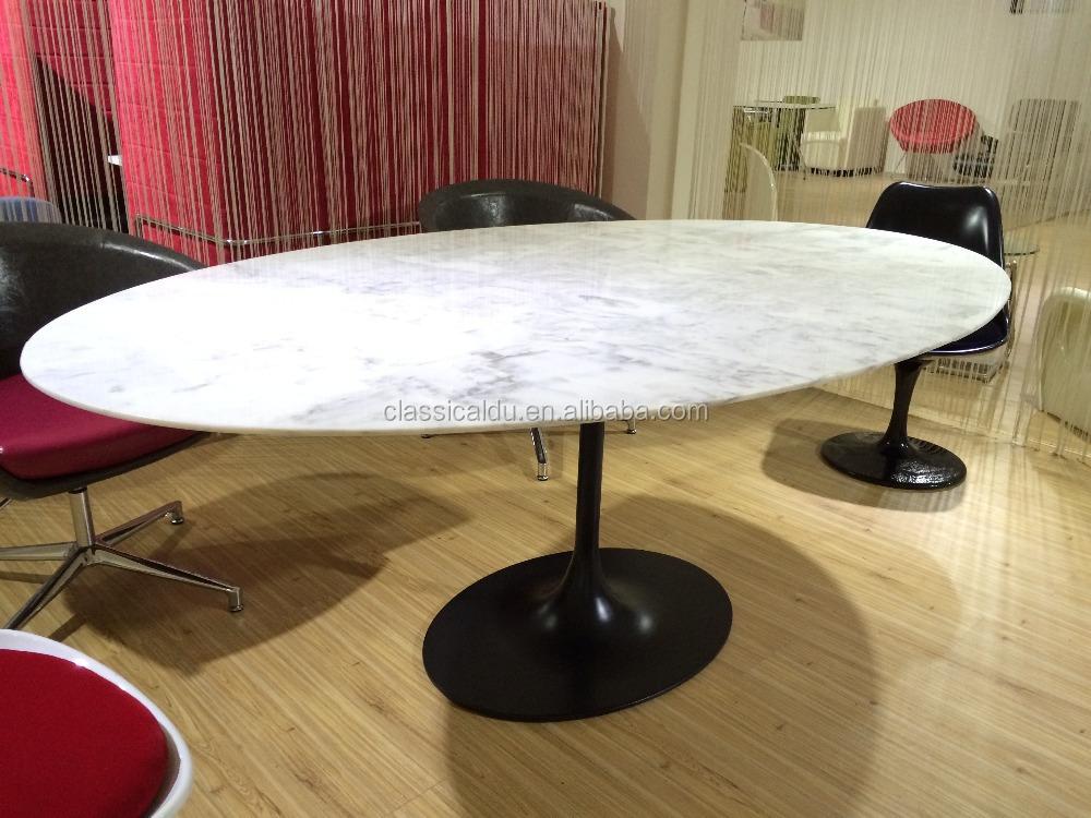 Voorkeur Ovale Marmeren Blad Eettafel,Ovale Eettafel Marmer,Ovale Marmeren  IS54