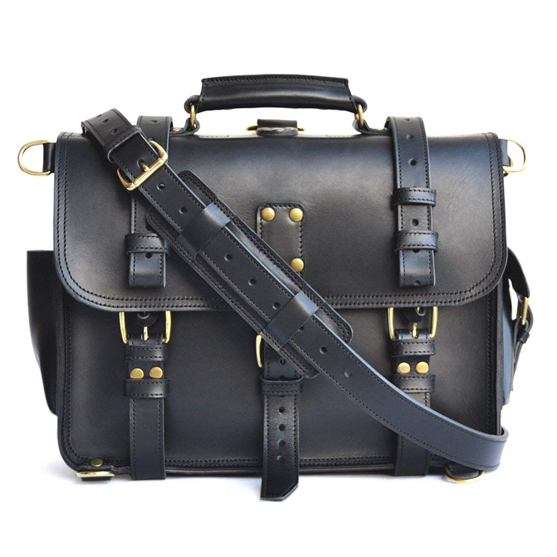 8adad99a27 Get Quotations · Single Space Leather Briefcase