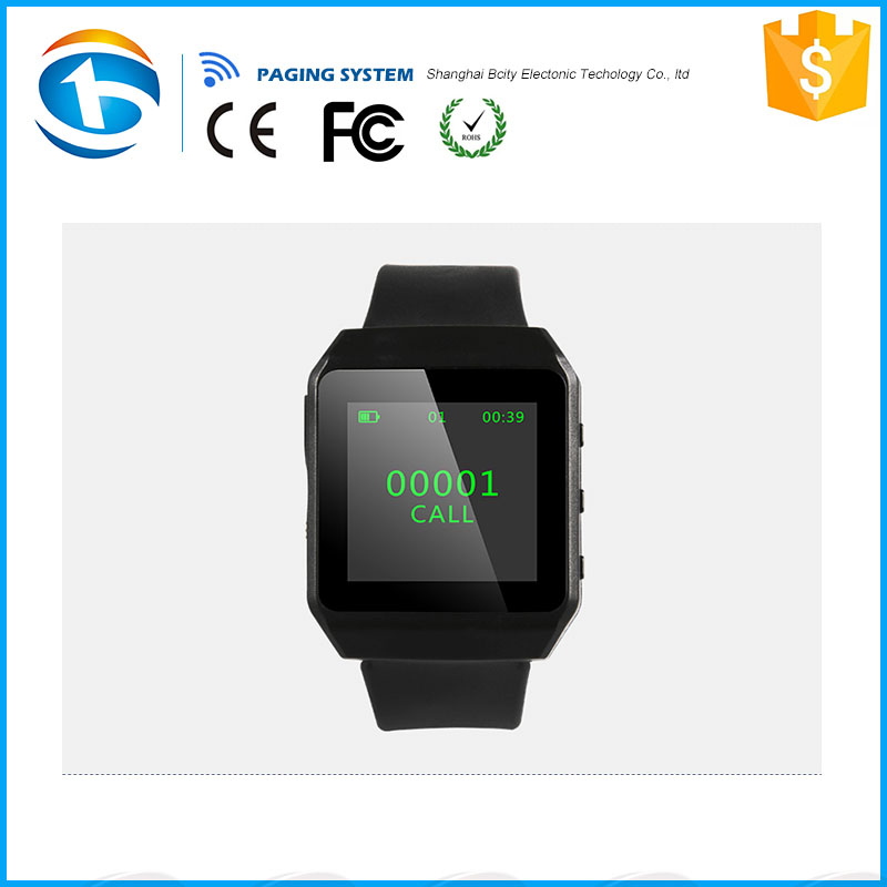 Restaurant Wireless Calling System Wrist Watch Pager Receiver