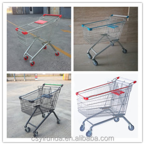 CE and ISO proved grocery shopping trolley for small supermarket