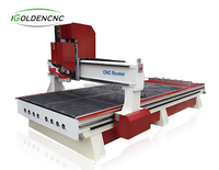 Row type ATC function wood cnc machine for wood funiture cabinets engraving cutting