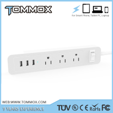 Automatic amper us socket power strip