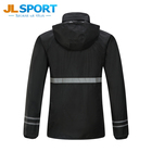 Wholesale Black Soft polyester Man raincoat for motorcycle riders