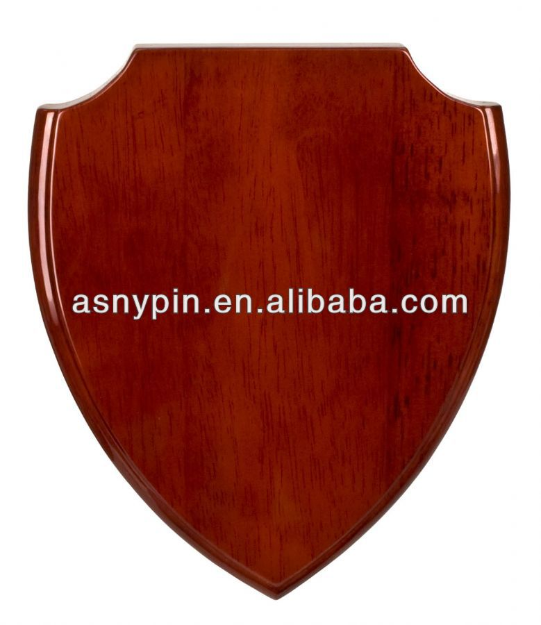 Piano Finish Blank Shield Traphy Plaque